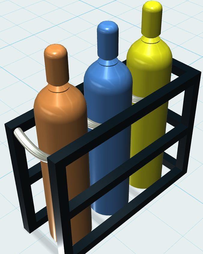 High Pressure Bottle Rack : Best gas cylinder trucks racks and stands images on