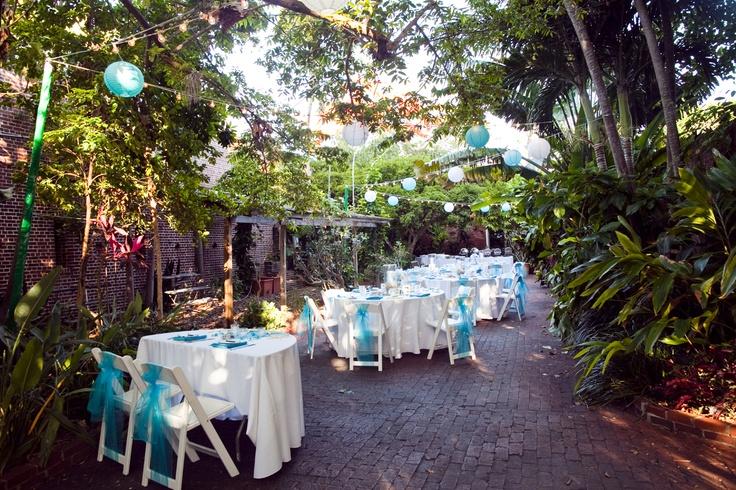 Key West Backyard Ideas : wedding @ The Key West Garden Club PlanningDesign by Soiree Key West