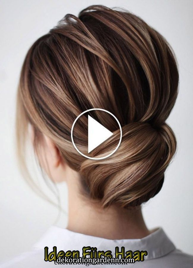 Haarpflege   Haarpflege in 2020 | Easy bun hairstyles, Bun hairstyles for long hair, Bun hairstyles