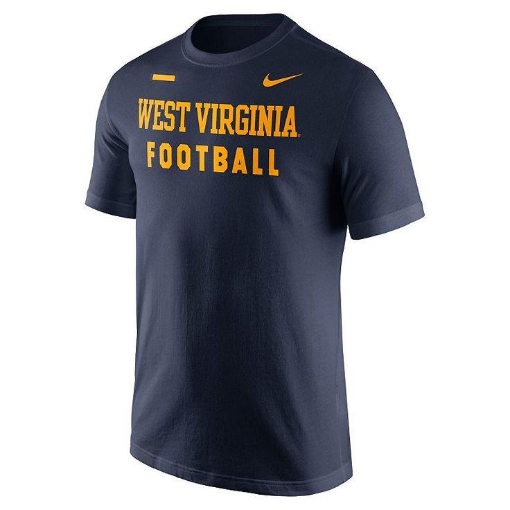 Men's Nike West Virginia Mountaineers Football Facility Tee, Blue (Navy)