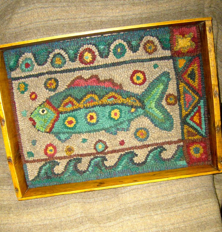 38 Best Hooked Fish Rugs Images On Pinterest
