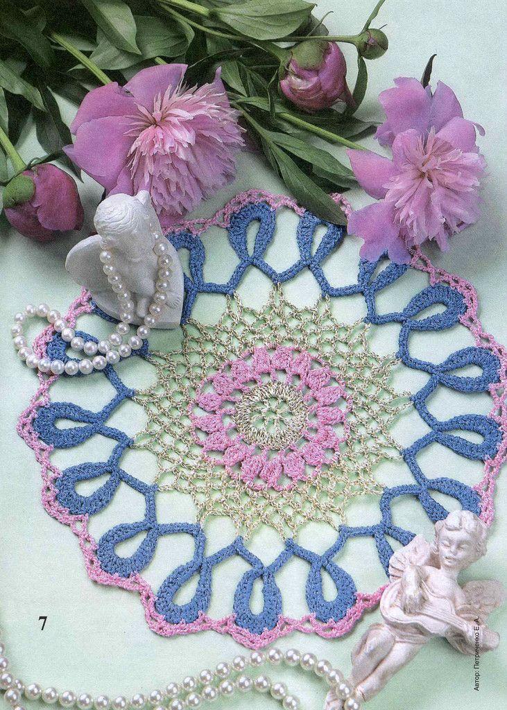 17 meilleures id es propos de napperons au crochet sur - Napperon crochet chemin de table ...