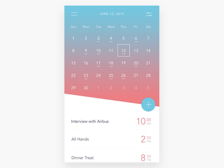 A small mobile #calendar #app with a touch of #MaterialDesign
