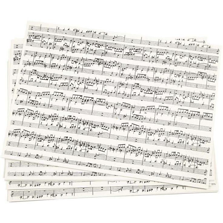 Hartie kraft A4,100g,10coli,note muzicale