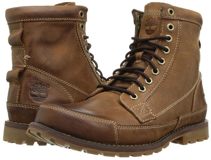 $160, Brown Leather Boots: Timberland Earthkeepers Rugged Original Leather 6 Boot. Sold by Zappos. Click for more info: https://lookastic.com/men/shop_items/129628/redirect