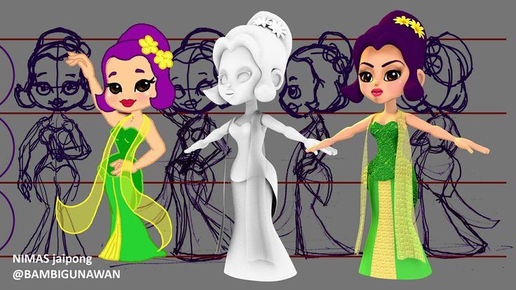 Modelling karakter #nimas_jaipong #nimas perbedaan dari gambar 2D menjadi 3D lengkap dg make up-nya. #masbe #masbe_fanart #karyamasbambi #mas_be #3d_modeling #blender3d #blender3dart thank you mentor mas @kurniawanasidiqi dan assistance @nurachmanaufal #3danimation #3dmodeling #bdi_bali #bdi #bcic #characterdesign #disneystyles #Unyu2 #unyu_korea