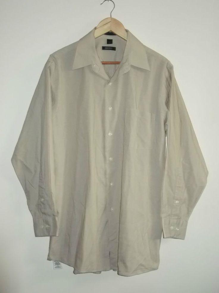 DKNY Mens Size Large 16 32/33 Long Sleeve Shirt