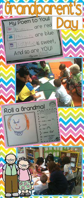 Fun Grandparent's Day ideas!  Mini- Unit $ and a FREE writing activity!