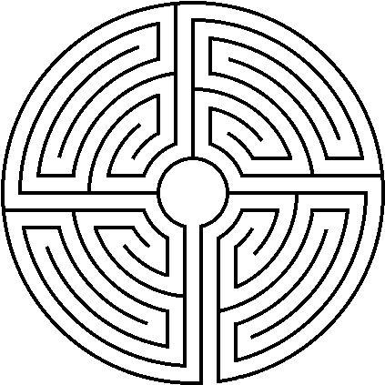 Lady Betwixt: Mandala para pintar - 6 - Labirinto