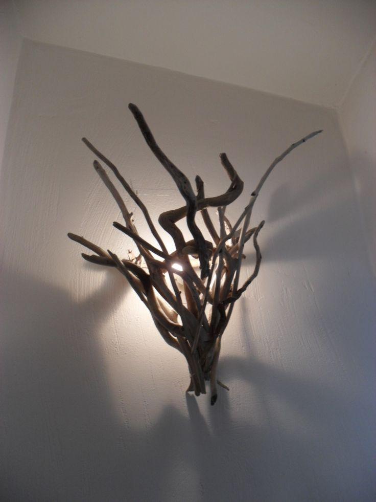 Applique en bois flotté , pièce unique