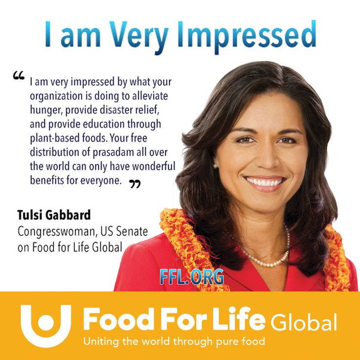 Tulsi Gabbard absolutely loves what Food for Life Global is doing