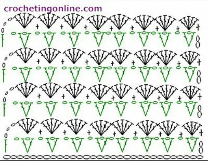 Mejores 1355 imágenes de puntos a crochet en Pinterest | Patrones de ...