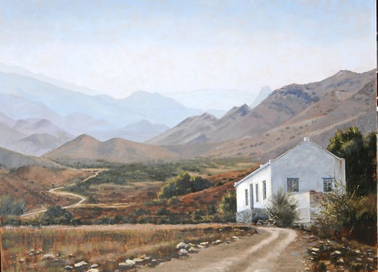 Rika De Klerk. Near Prins Albert, great Karoo. Painting for International Artist Magazine.