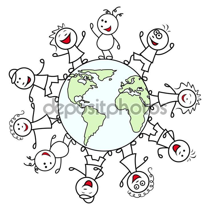 Gens heureux dans le monde entier — Illustration #105033214