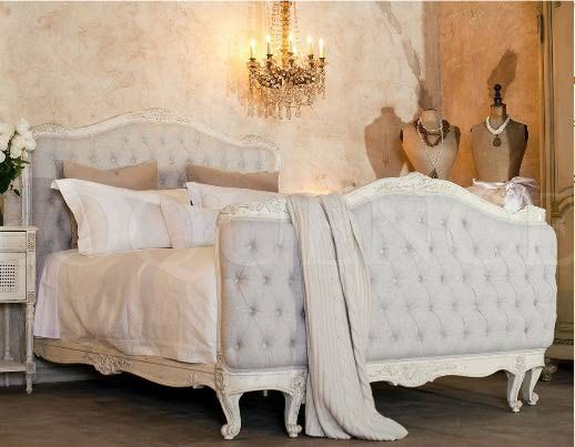 Beds and throws and pillows and chandeliers.