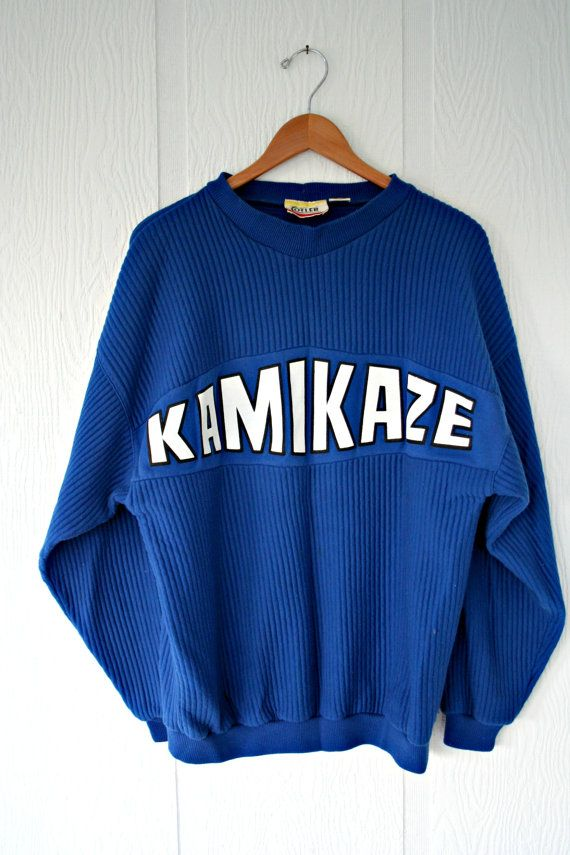 Kamikaze Royal Blue White Sweater Cotler by ClosetWallflower