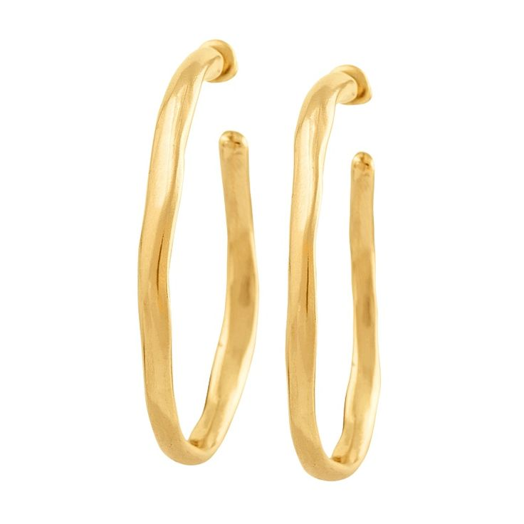 """Pendiente """"Ohmmm"""" de Uno de 50 colección Gold con aro chapado en oro"""