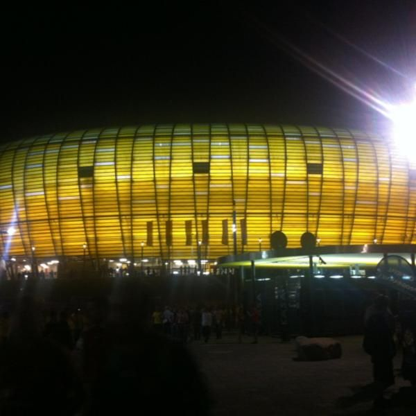 Photo taken at PGE Arena Gdańsk by Lookzo B. on 6/18/2012 #stadium #arena #ilumination http://kalinowskipro.pl
