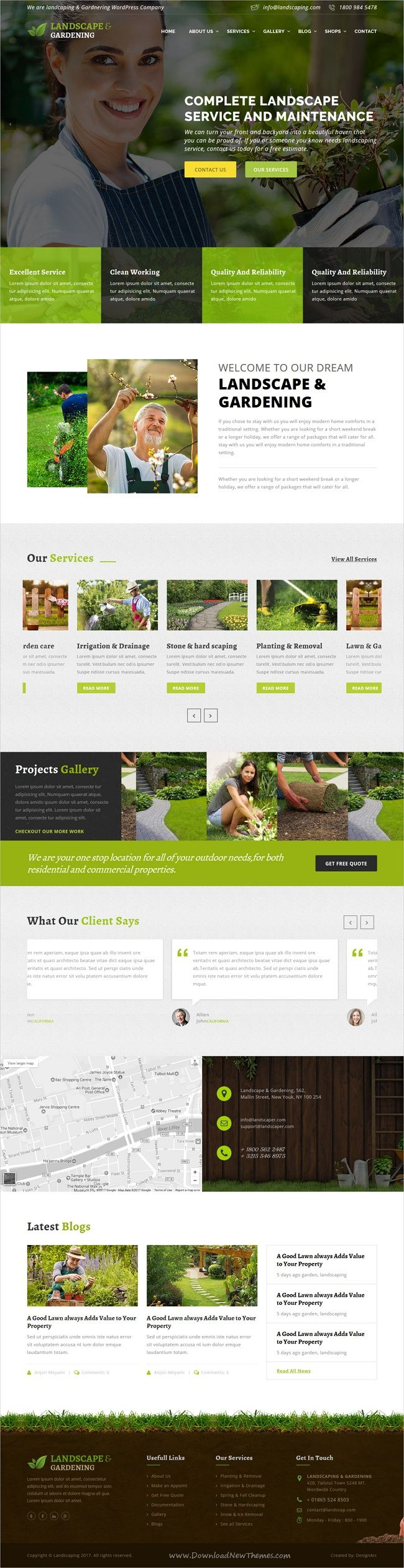 Landscape & gardening is a wonderful 4in1 responsive #HTML5 bootstrap template  Lawn Services, #Agriculture, #Landscape Architects and all type of Gardners Business websites download now➩ https://themeforest.net/item/lanscape-gardening-html-template/17689207?ref=Datasata