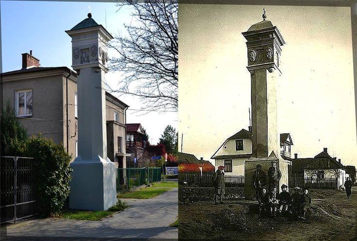 Figura Św. Piątka przy ulicy o tej samej nazwie. 1939r...i dziś 2015r