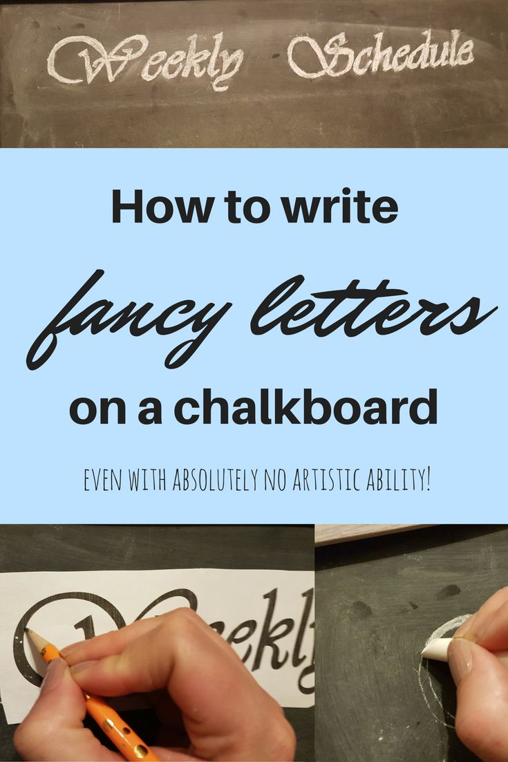 Try this easy way to get gorgeous writing on your chalkboard....even with absolutely no talent!
