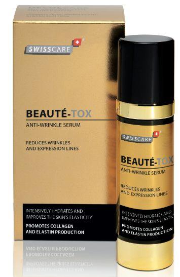 Het huidontspannend serum Beautytox. Onder idere dagelijkse gezichtsverzorging te gebruiken voor een mooi gladmakend resultaat.