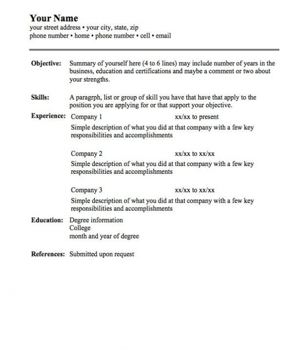 Best 25 Basic Resume Examples Ideas On Pinterest Resume