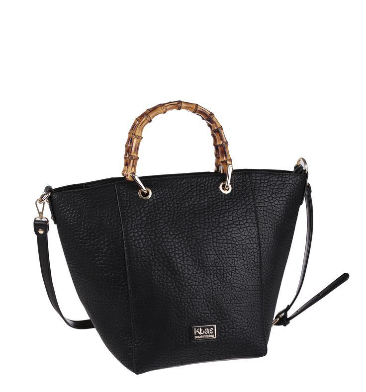 Kbas kabelka přes rameno z nepromokavého materiálu se zipem a bambusovými ručkami http://goo.gl/8JyJ97