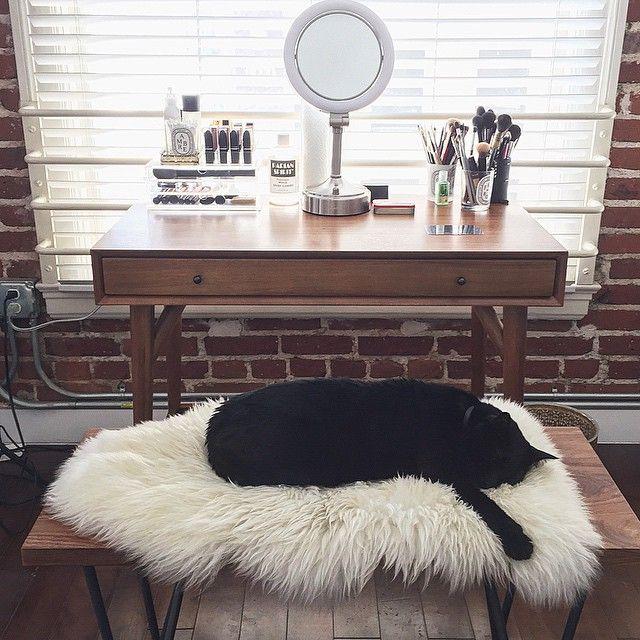Vanity & muji drawers. (Claire Marshall)