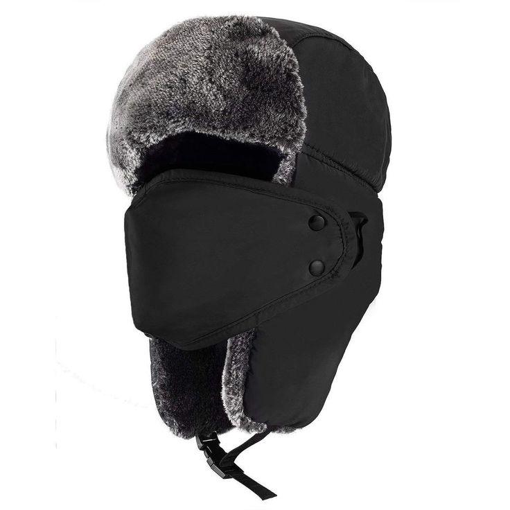 5eaedd140e1 Airman Leather Ushanka - Winter Russian Hat Ski Fur Pilot Military Army New   fashion  clothing  shoes  accessories  mensaccessories  hats (ebay…