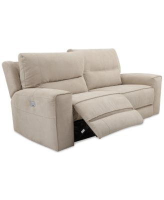 Genella Power Reclining Sofa with Power Headrest Collection, Only at Macy's | macys.com