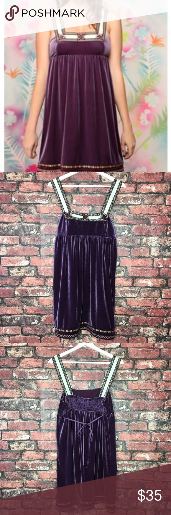 Free People Scandinavian Snowflake Dress The perfect unique purple velvet dress to add to your wardrobe. Great for festivals or special events. In excellent condition. Free People Dresses