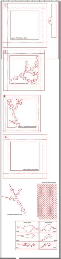 Ashbee Diseño Proyectos Silhouette: 3D Shadow Box Winterberry
