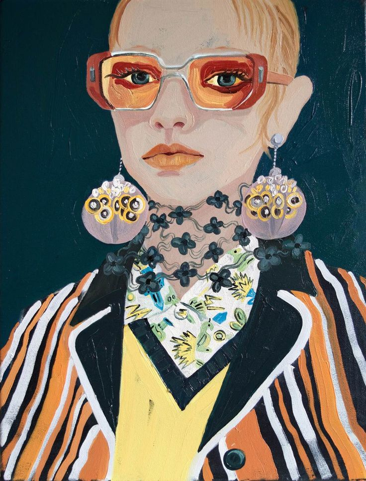 'Amber Eyes' painted by #fashion #illustrator #GillButton. Available to view at the Fashion Illustration Gallery until the 4th March.