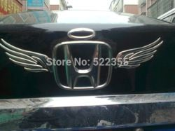 Online Shop ANGEL WING-2, 3D Car Sticker, Chromed PVC car emblem decal sticker for car logo, Free Shipping, 5 lots more 20% off Aliexpress Mobile