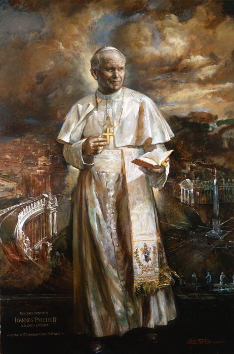 Saint Pope John Paul II - wondrous official painting by the Vatican artist
