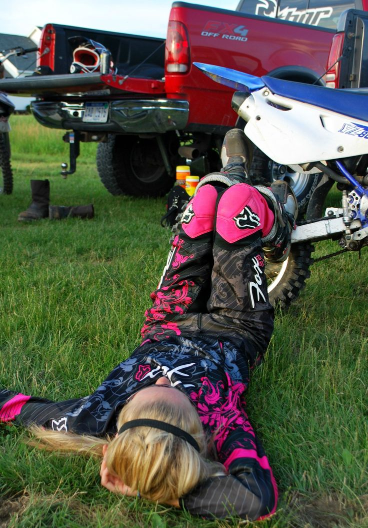 the BEST feeling in the world after a great day of riding!!