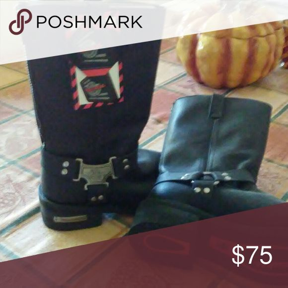 Motorcycle Boots, Milwaukee New, never worn Milwaukee  Shoes Combat & Moto Boots
