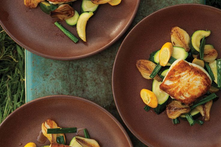 Spring Onion and Summer Squash Saute | Recipe | Halibut, Summer Squash ...