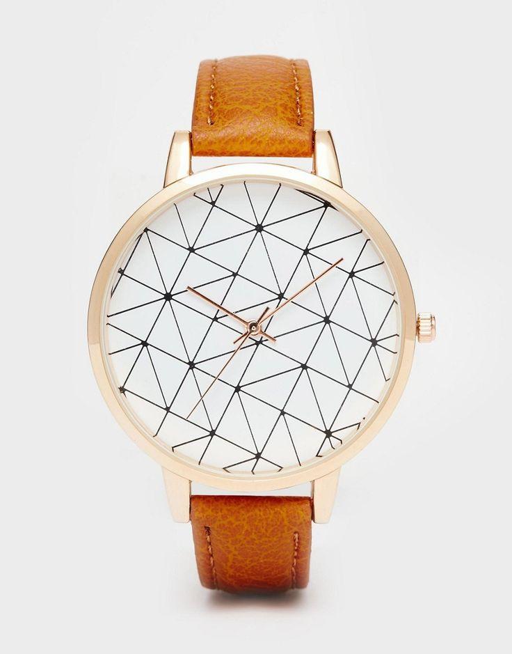Image 1 ofASOS Grid Print Watch