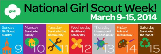 national girl scout week brownies girl scouts pinterest