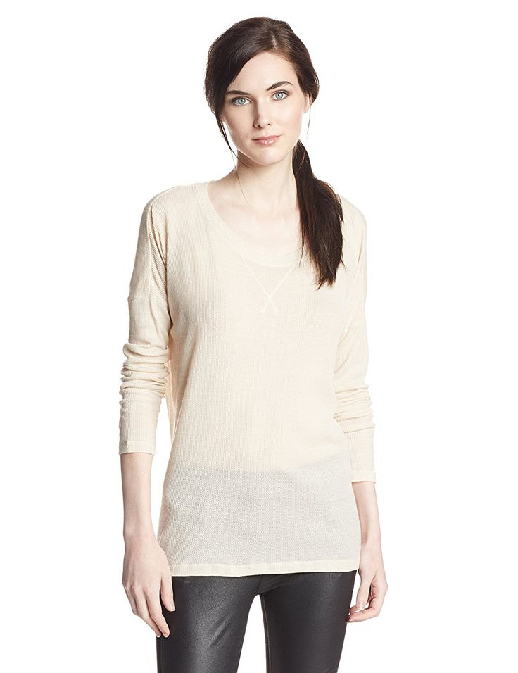 BCBGeneration Women's Drop-Shoulder Tunic, Nude, X-Small at Amazon Women's Clothing store: