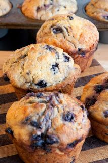 Weight Watchers Healthy Blueberry Muffins Recipe each muffin is 3 points...