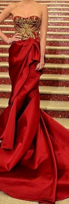 Red Haute Marchesa Gown. If I were going to a fancy enough party and had the money...