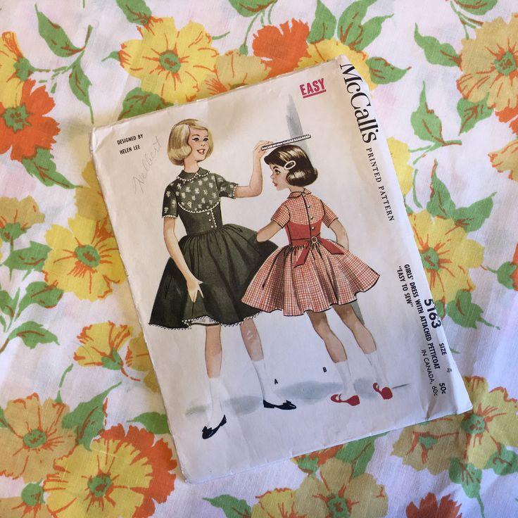 1950's Helen Lee McCalls Dress & Petticoat Pattern (Size 4 ) by twinkletotsVintage on Etsy https://www.etsy.com/listing/526268967/1950s-helen-lee-mccalls-dress-petticoat
