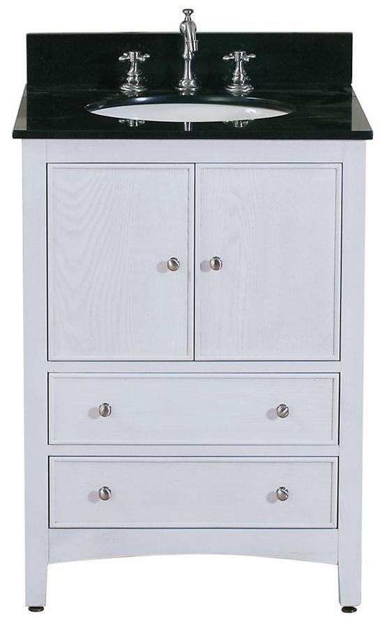 "Avanity Westwood 24"" Wide White Washed Vanity Combo ..."