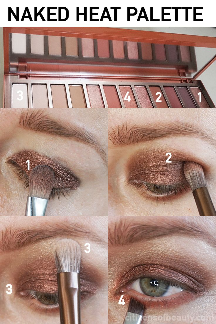 MAKEUP TUTORIAL| URBAN DECAY Naked HEAT PALETTE - Citizens of Beauty
