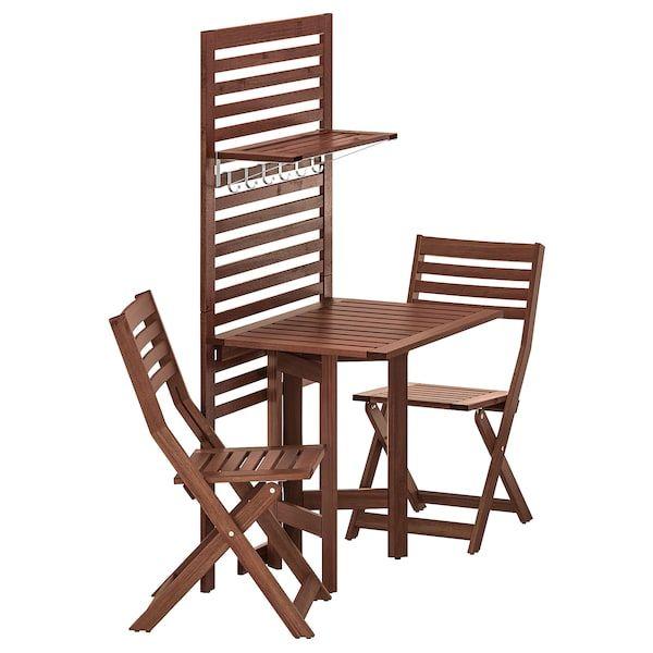 Ikea Applaro Wandpaneel Klappti 2 Klappst Outdoor Chairs Outdoor Dining Set Balcony Furniture