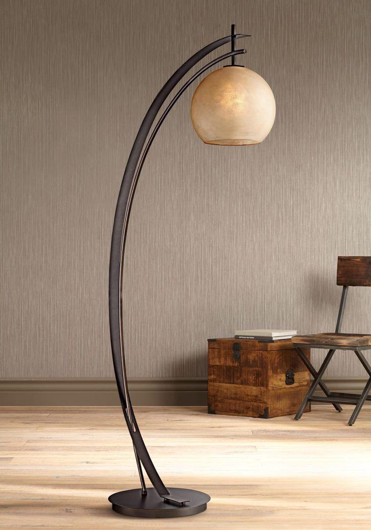 Possini Euro Venus Oil Rubbed Bronze Metal Arc Floor Lamp