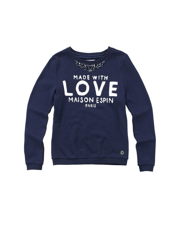 Lovely sweatshirt #maisonespin #fw14 #collection #lovely #clothing #madewithlove #chiaranasti #romanticstyle